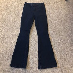 GAP 1969 dark wash flare jeans